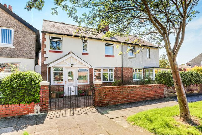 Thumbnail Semi-detached house for sale in Whitley Road, Wellfield, Whitley Bay