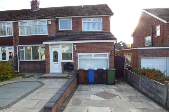 Thumbnail Semi-detached house to rent in Grasmere Crescent, High Lane, Stockport