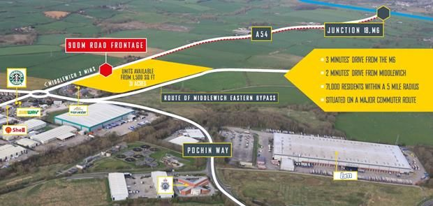 Thumbnail Land to let in Magnitude, Junction 18, M6, Middlewich, Cheshire