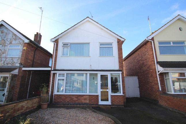 Thumbnail Detached house for sale in Stokes Drive, Leicester