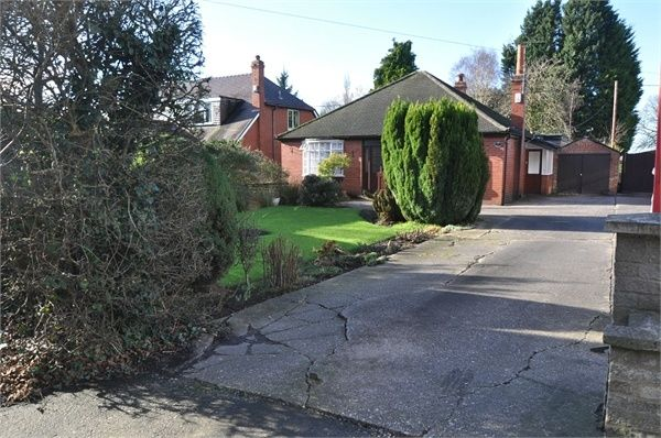 Thumbnail Detached bungalow for sale in Middlewich Road, Woolstanwood, Crewe, Cheshire