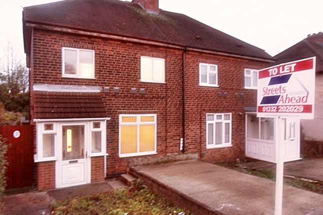 Thumbnail Semi-detached house to rent in Willowcroft Road, Spondon, Derby