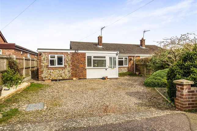 Thumbnail Semi-detached bungalow for sale in Soame Close, Aylsham, Norwich
