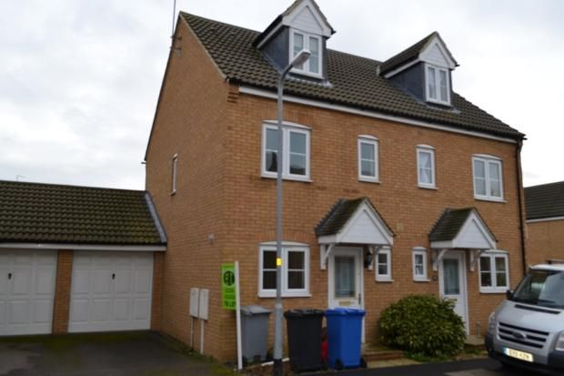 Thumbnail Terraced house to rent in Chedington Close, Barton Seagrave, Kettering