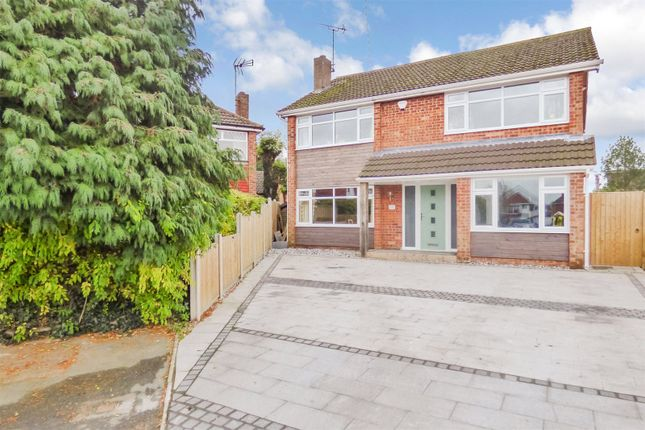 Thumbnail Detached house for sale in Bath Close, Sapcote, Leicester, Leicestershire