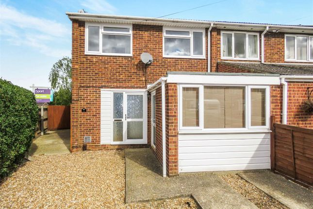 Thumbnail End terrace house for sale in Windsor Close, Eynesbury, St. Neots