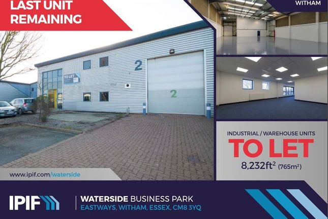 Thumbnail Pub/bar to let in Unit 2, Waterside Business Park, Eastways, Witham, Essex