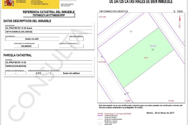 land for sale in playa de daimuz daimus spain   46032813