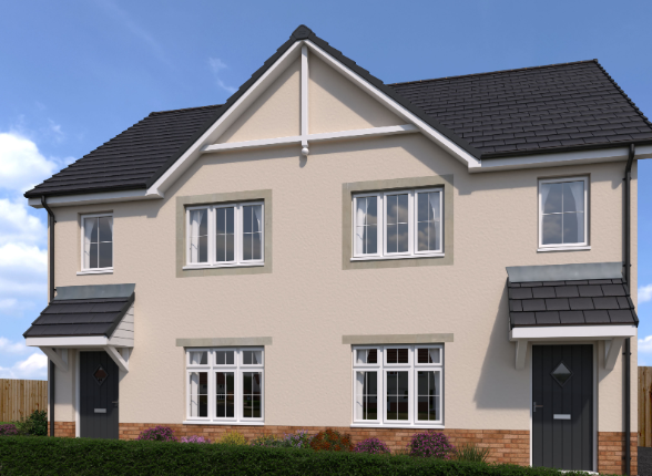 Thumbnail Semi-detached house for sale in Maes Gwern Development, Mold