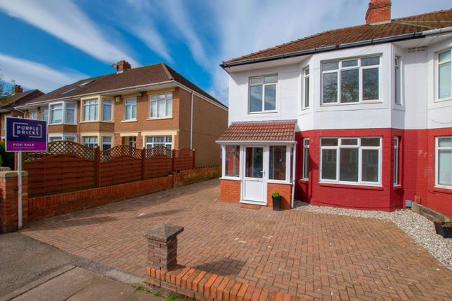 Thumbnail Semi-detached house for sale in St. Cadoc Road, Cardiff