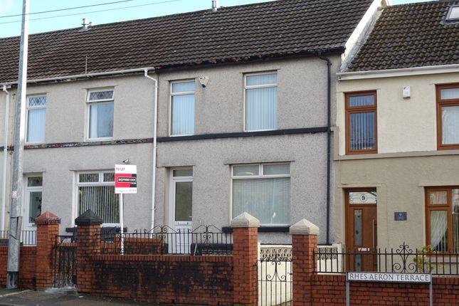 Thumbnail Terraced house to rent in Aeron Terrace, Twynyrodyn