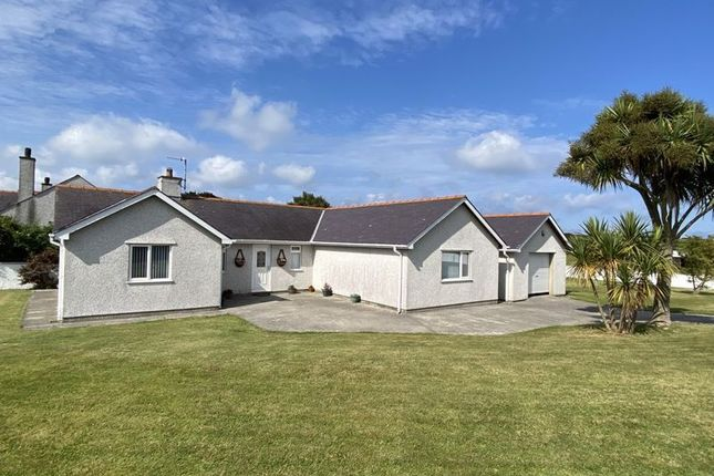Thumbnail Detached bungalow for sale in Llanfwrog, Holyhead