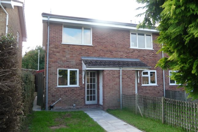 Thumbnail End terrace house to rent in Blanchard Close, Leominster