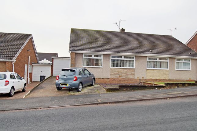 Thumbnail Semi-detached bungalow for sale in Grasmere Road, Chester Le Street