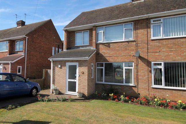 Thumbnail Semi-detached house to rent in Castle Drive, Northborough, Peterborough