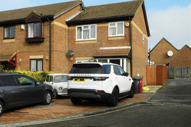 Thumbnail End terrace house for sale in Hardy Close, Cippenham, Slough