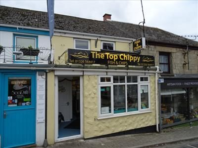 Thumbnail Restaurant/cafe for sale in The Top Chippy, Fore Street, Porthleven, Helston