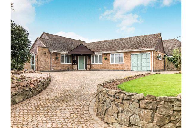 Thumbnail Detached bungalow for sale in Church Lane, Fenny Drayton