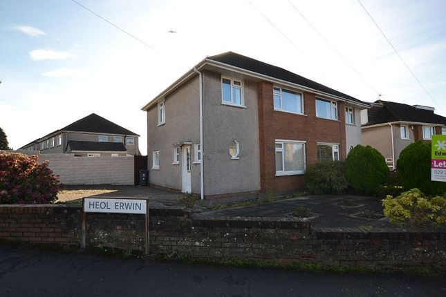 Thumbnail Semi-detached house to rent in Heol Lewis, Rhiwbina, Cardiff.