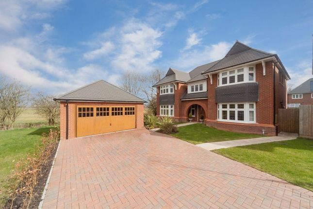 Thumbnail Detached house for sale in The Parade, Lodge Drive, Culcheth, Warrington