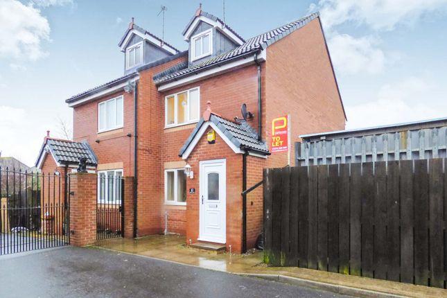 Thumbnail Terraced house to rent in Jubilee Mews, Bedlington