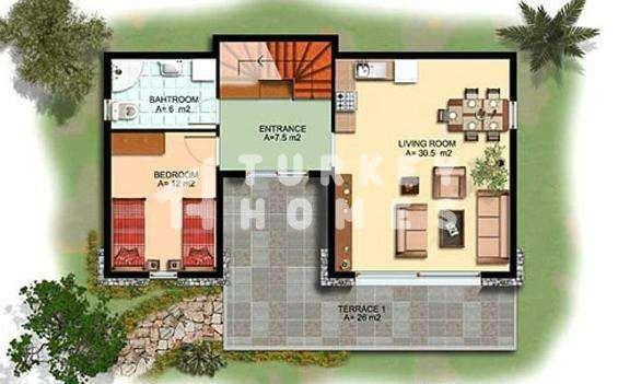 Sea View Villa - Gumusluk, Bodrum - Ground Floor Plan