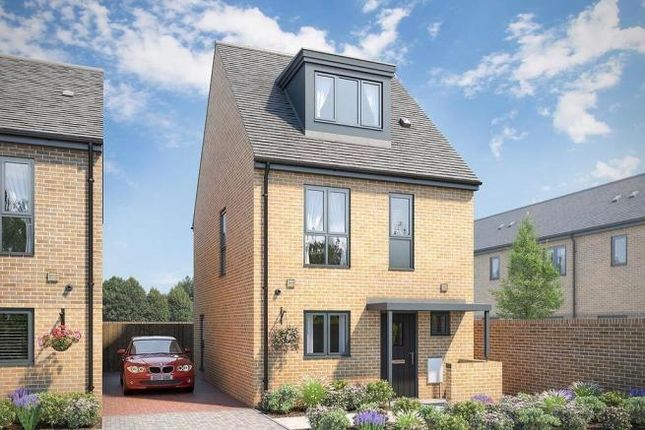 Thumbnail Town house for sale in The Lawrie At Atelier, Keaton Way, Off Commonside Road, Harlow, Essex
