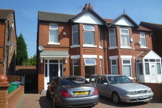 Thumbnail Semi-detached house to rent in Kingsway Avenue, Burnage, Manchester