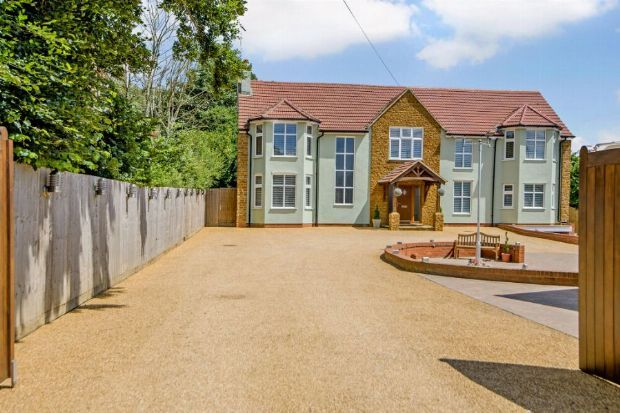 Thumbnail Detached house for sale in Harborough Road North, Kingsthorpe, Northampton