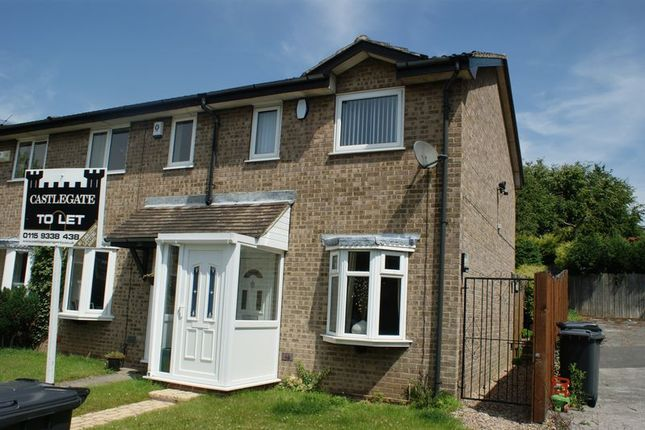 Thumbnail Terraced house to rent in Quantock Close, Arnold, Nottingham