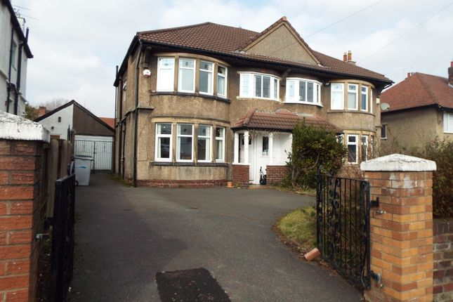 Thumbnail Semi-detached house for sale in Wellington Road, Bebington, Wirral