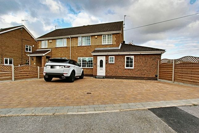 Thumbnail Semi-detached house for sale in Goodmanham Way, Cottingham