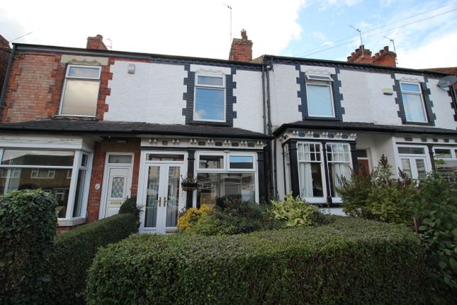 Thumbnail Terraced house to rent in Victoria Avenue, Willerby, Hull