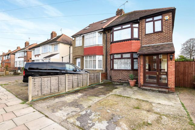 Thumbnail Semi-detached house for sale in Cassiobury Avenue, Feltham