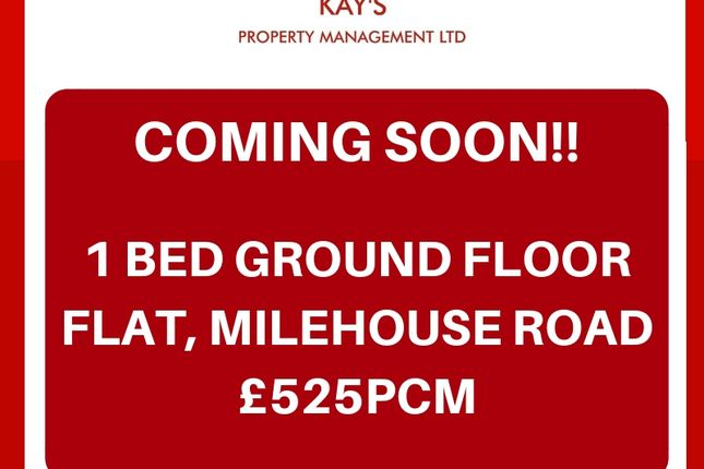 Thumbnail 1 bed flat to rent in Milehouse Road, Stoke
