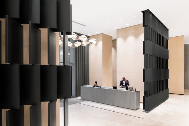 Lobby of Park Drive, London E14