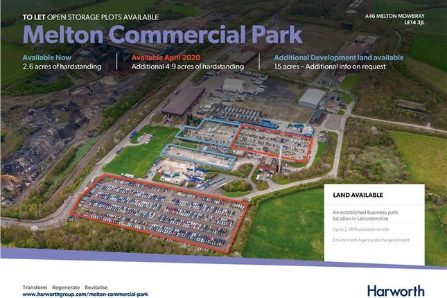 Thumbnail Land to let in Land At Melton Commercial Park, Melton Mowbray, Leicestershire