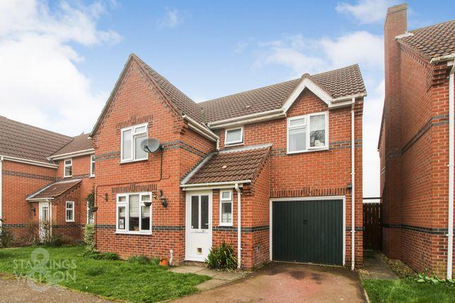 Thumbnail Detached house for sale in Potters Crescent, Great Moulton, Norwich