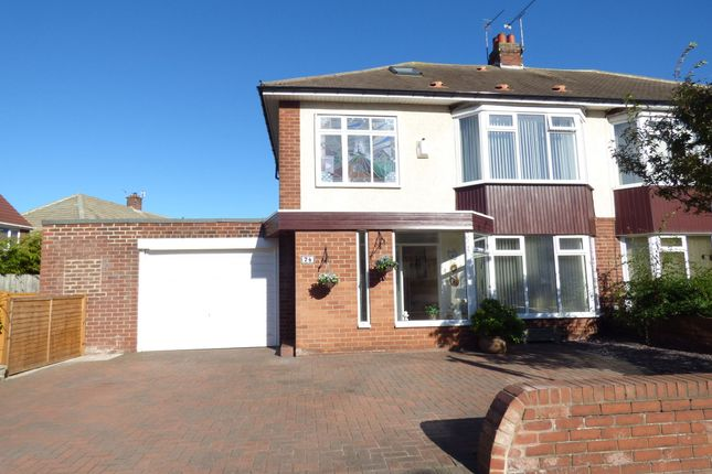 Thumbnail Semi-detached house for sale in Millview Drive, Tynemouth, North Shields