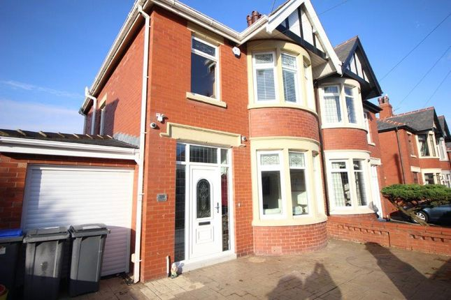 Thumbnail Semi-detached house for sale in Cornwall Avenue, Blackpool, Lancashire