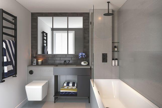 Bathroom CGI of 58 Grange Road, Bermondsey SE1