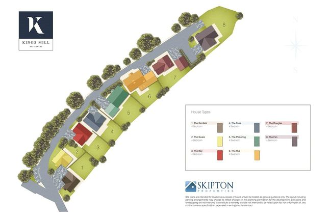 Site Plan of Kings Mill Residencies, Settle, North Yorkshire BD24