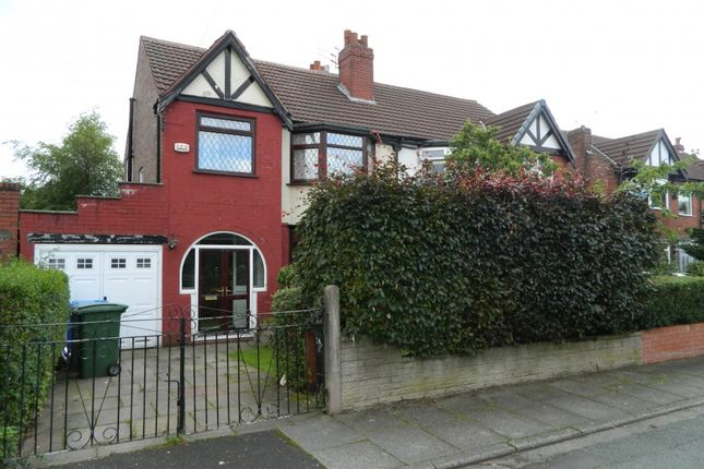 Thumbnail Semi-detached house to rent in Carrsvale Avenue, Urmston