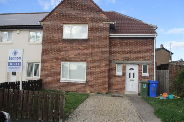 Thumbnail Semi-detached house to rent in Weardale Avenue, Blyth