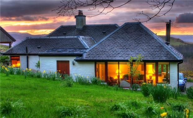 Lodge cottage and kennels cottage kilfinan tighnabruaich for Cottages and bungalows for sale