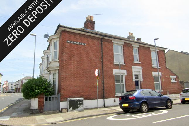 Thumbnail End terrace house to rent in Jessie Road, Southsea