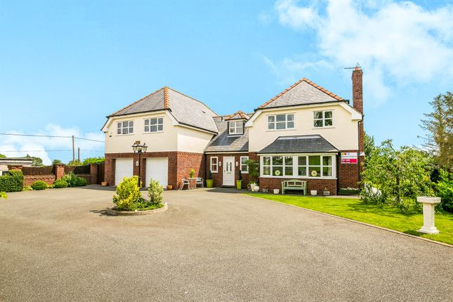 Thumbnail Detached house for sale in Rhyddyn Hill, Caergwrle, Wrexham