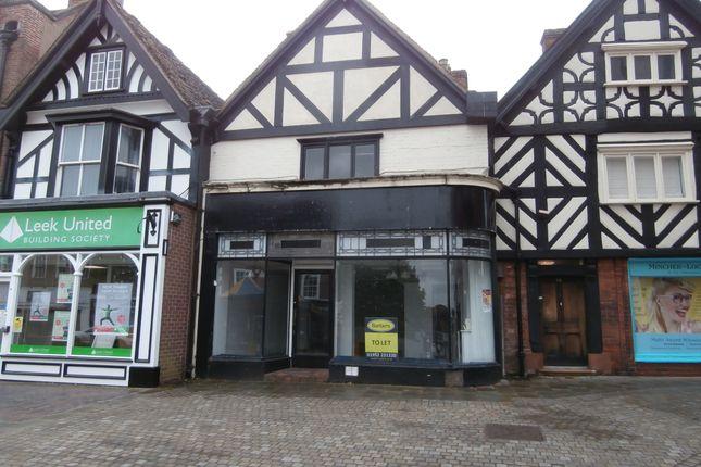 Thumbnail Retail premises to let in High Street, Market Drayton, Shropshire