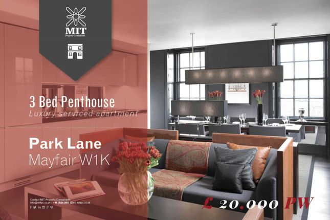 Thumbnail Penthouse to rent in Park Lane, London