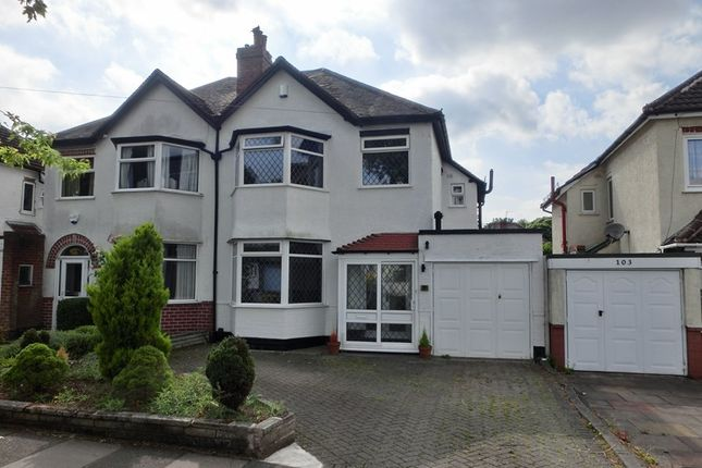 Thumbnail Semi-detached house for sale in Bushmore Road, Hall Green, Birmingham